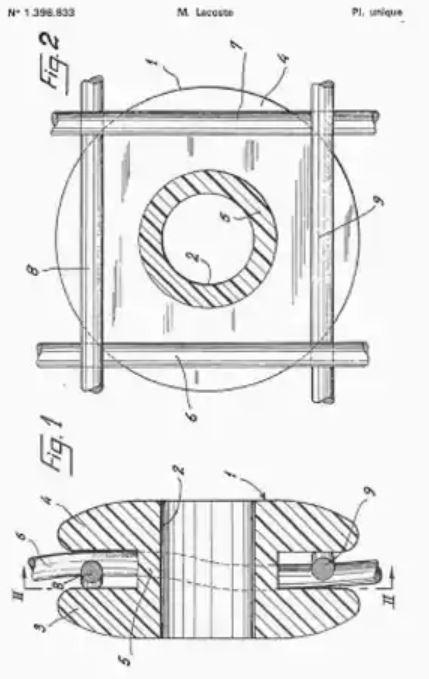 Lacoiste dampener patent sketch