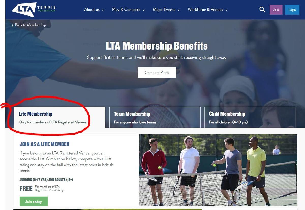 LTA Lite Membership