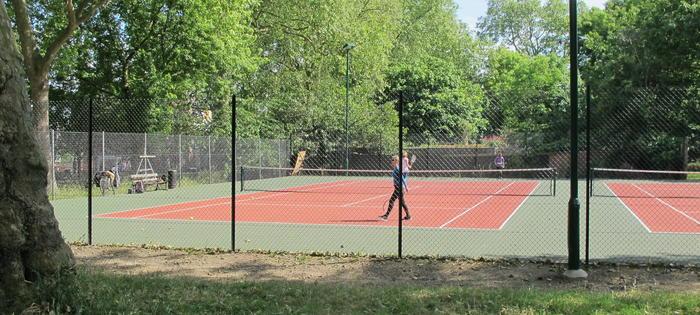 The new courts at Highbury
