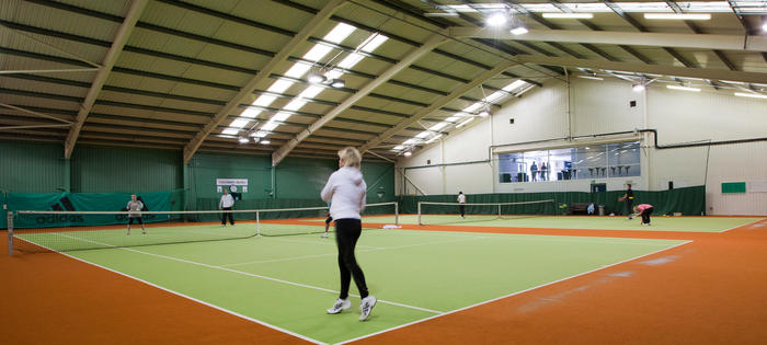 Great indoor facilities at the Abbeydale Tennis Club