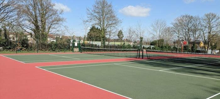 Newly refurbished courts at Addiscombe Rec