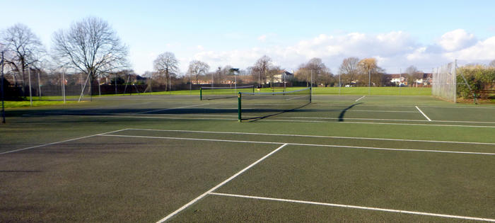 The courts at Bishop Duppas