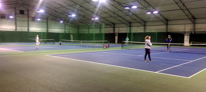Indoor tennis on the Churchill courts