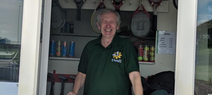 David at the Norfolk Gardens sports hut