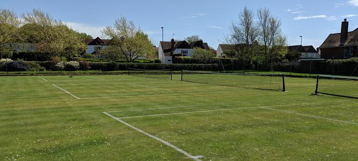 Grass courts at Maltravers Park