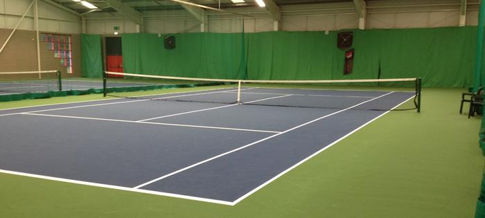 Indoor tennis at the Westburn