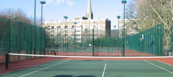 Tennis in the heart of town