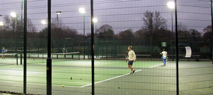 The courts at Ridgeway Park