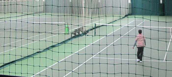 Play indoors at the Islington Tennis Centre