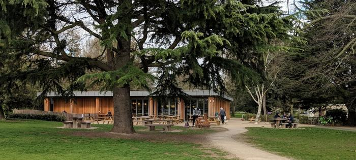 The cafe at Gunnersbury Park