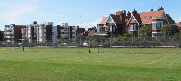 Grass courts on St Helens Parade