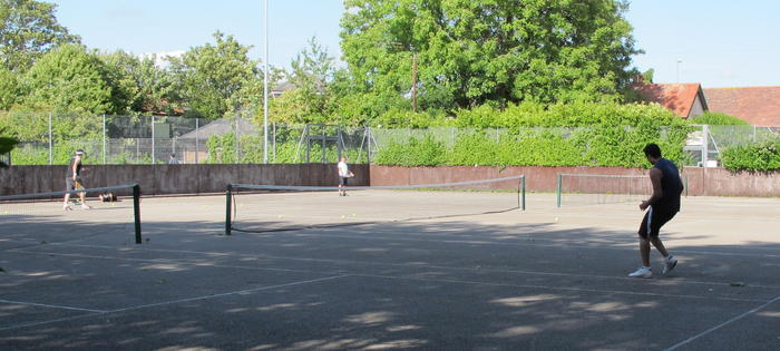 Tennis in Milton Park