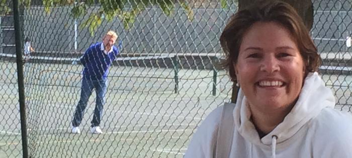 Kari, a Wimbledon Park regular, has a new coach!