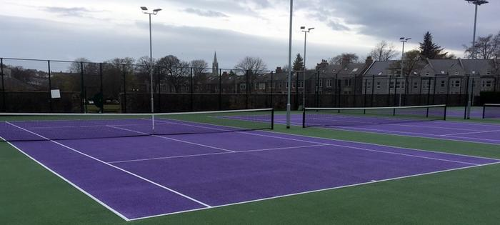 Outdoor courts at Westburn
