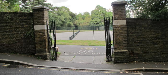 The courts at Waterlow Park