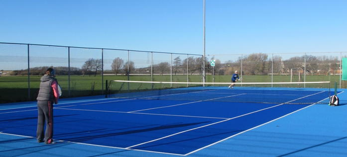 Great outdoor courts at the new Portsmouth Tennis Centre