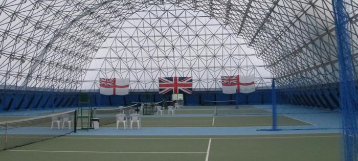 More great indoor courts at the Portsmouth Tennis Academy