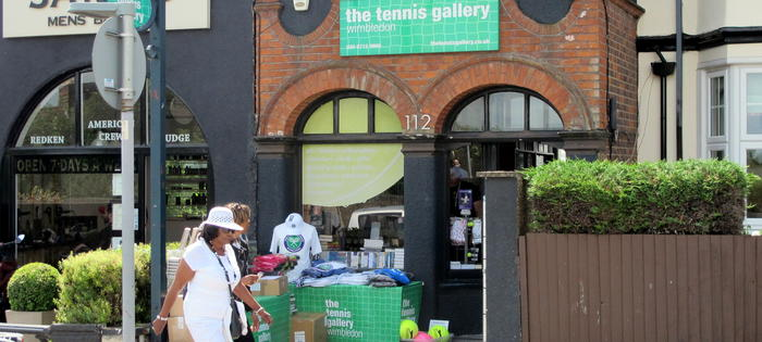 The famous Wimbledon Gallery, run by league player Richard Jones
