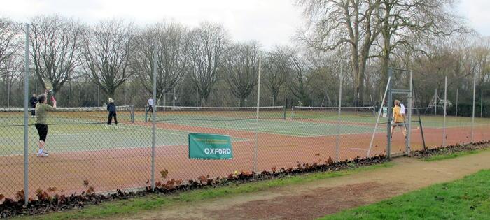 Hinksey Park in winter! Still playing