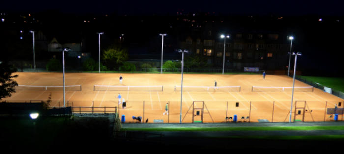 New floodlit courts