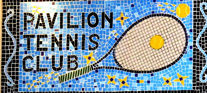 The cafe mosaic at the Pavilion