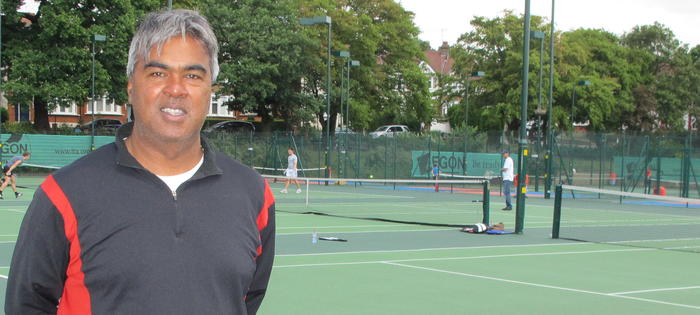 Robby Sukhdeo who runs the brilliant Pavilion tennis centre, brilliantly