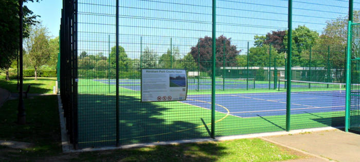 Four newly refurbished courts