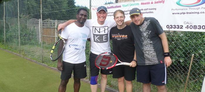 League players Nathan, Bobby, Ian and Joeph