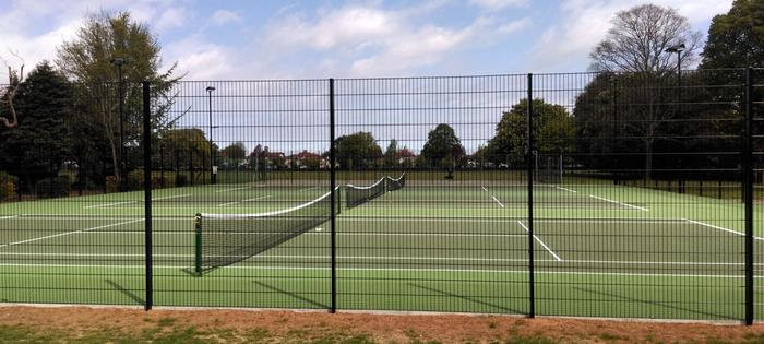 New courts at Priory Park!