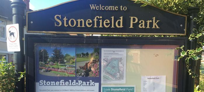 Stonefield Park - tennis this way!
