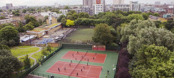 Rosemary Gardens - two newly resurfaced courts!