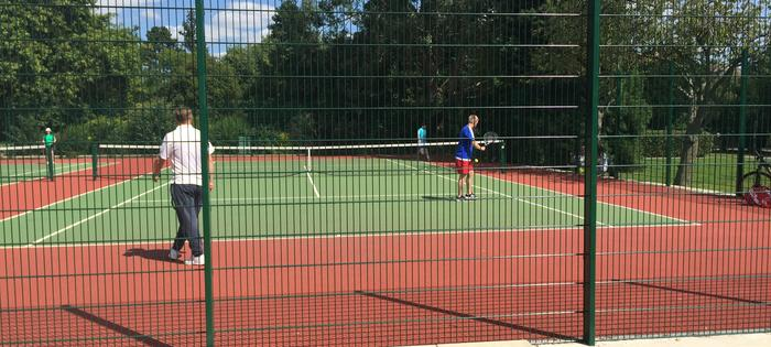The newly refurbished courts at Victoria Park