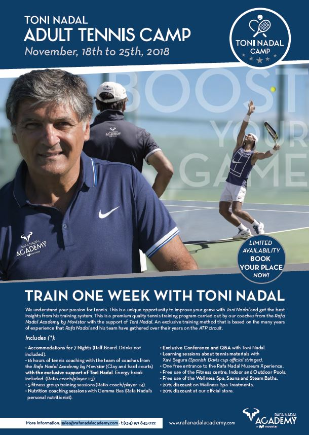 Toni Nadal Camp brochure